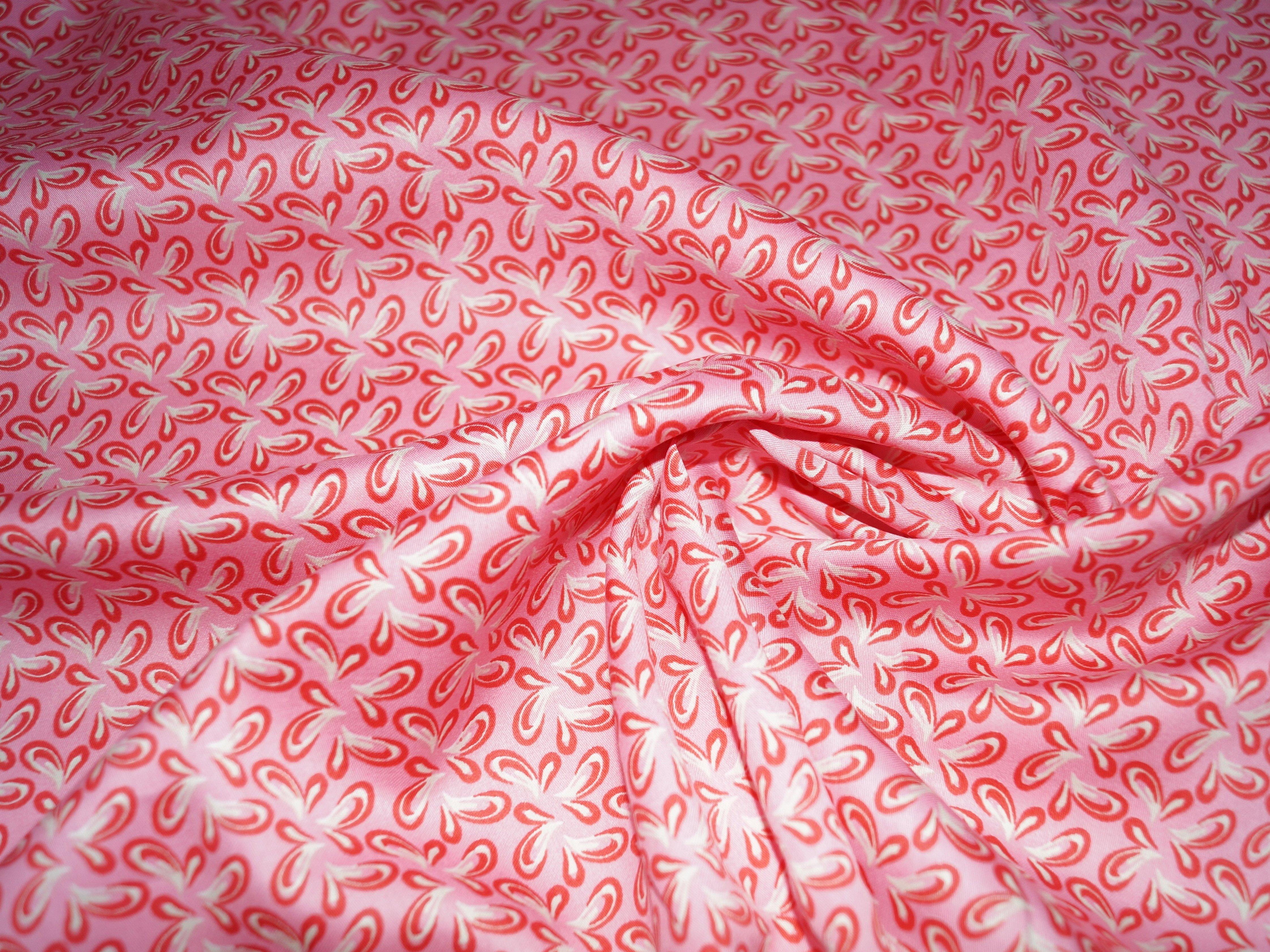 Поплин ткань снежинки красный