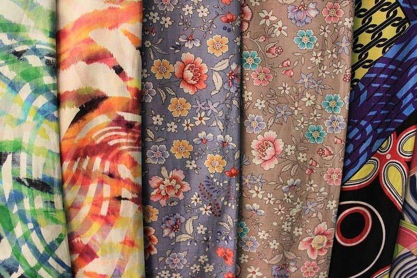 Разноцветные ткани