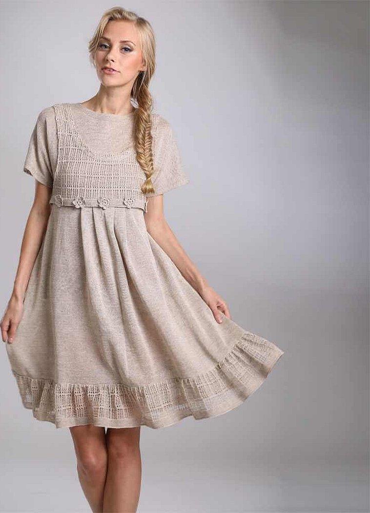 Льняные платья в стиле бохо