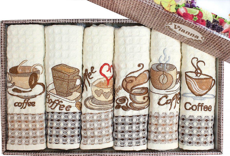 Набор вафельных полотенец с вышивкой