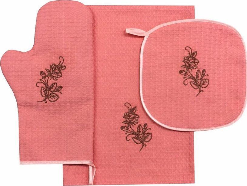 Прихватки и рукавицы для кухни с вышивкой