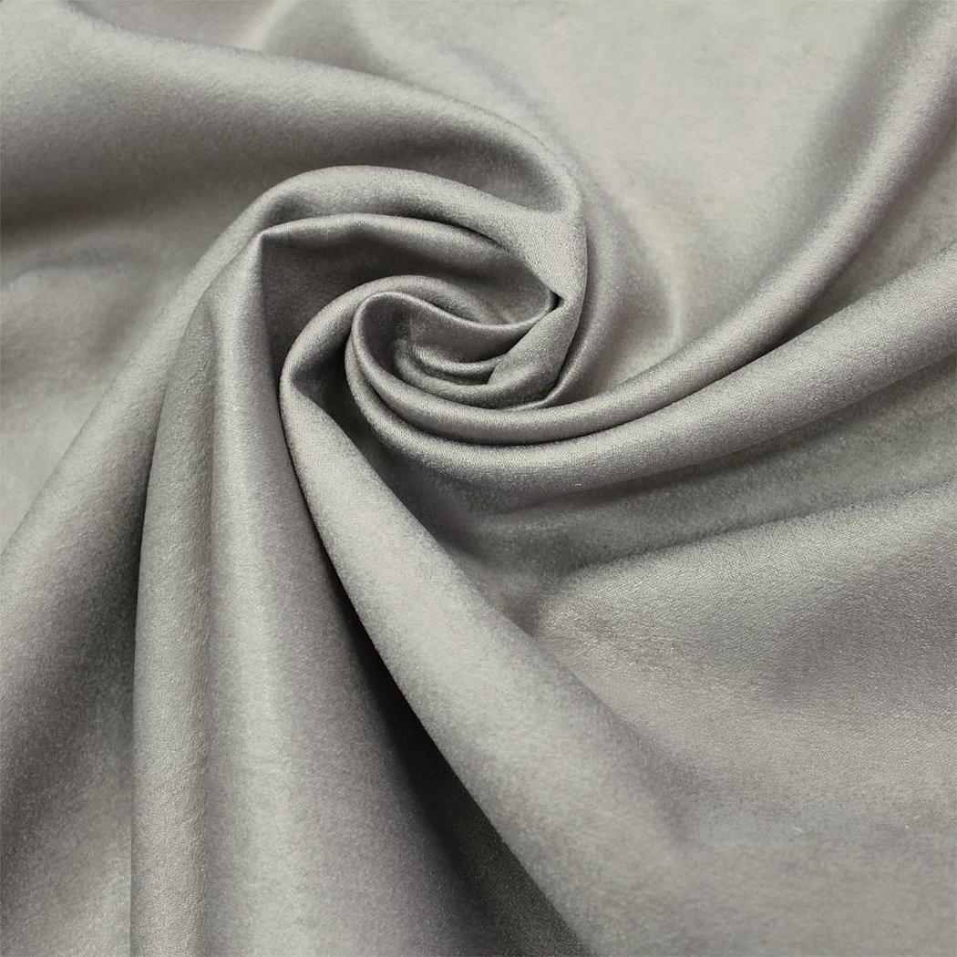Портьерная ткань софт однотонный
