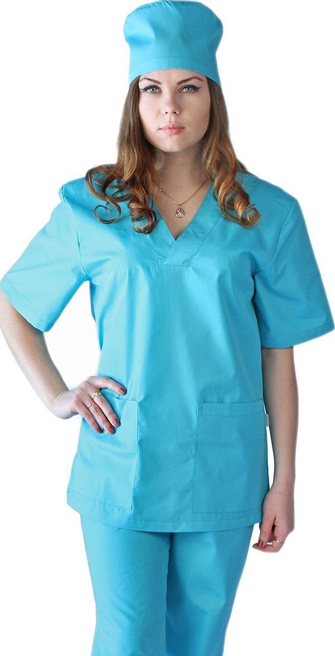 Медицинский костюм женский бирюзовый