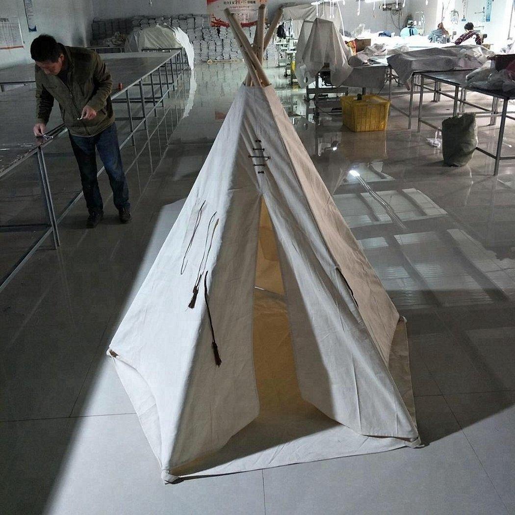 Палатка из парусиновой ткани
