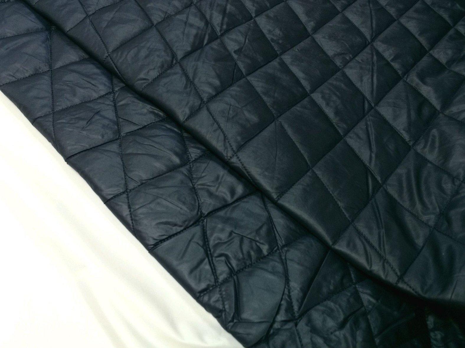 Темно синяя курточная стеганая