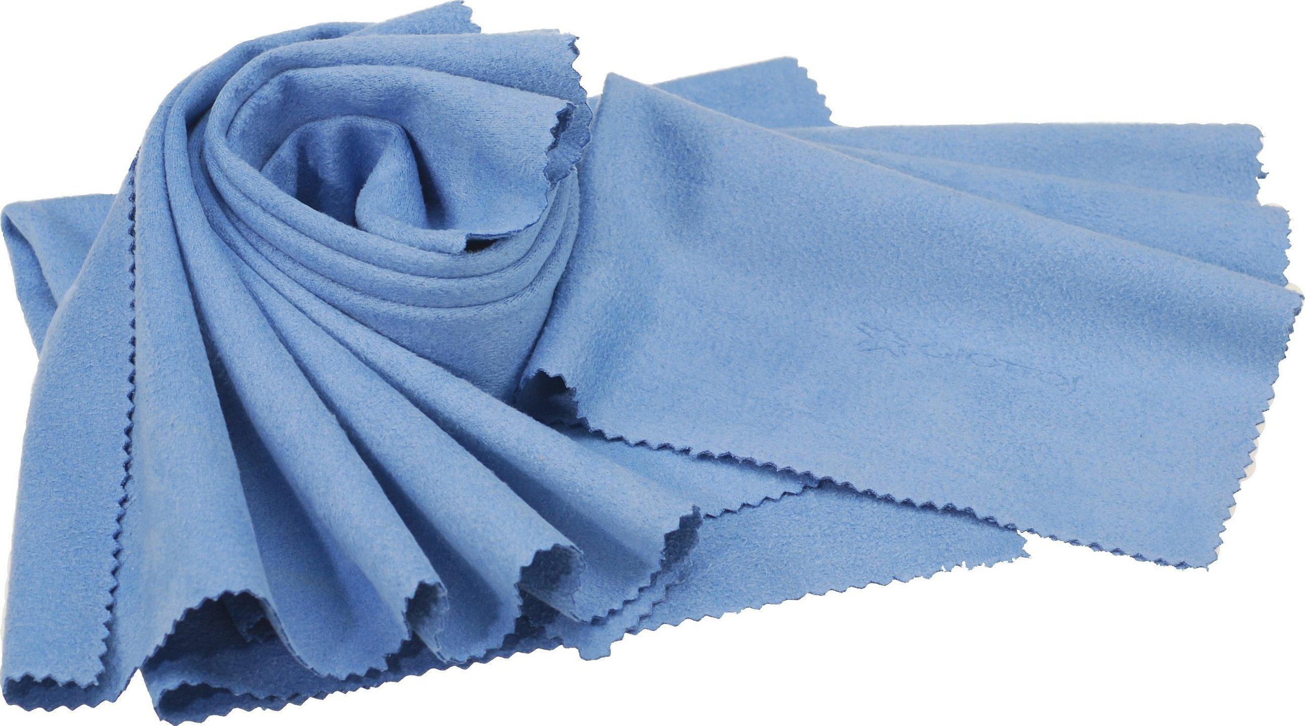 Голубой флис ткань