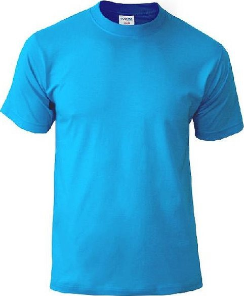 Голубая футболка промо