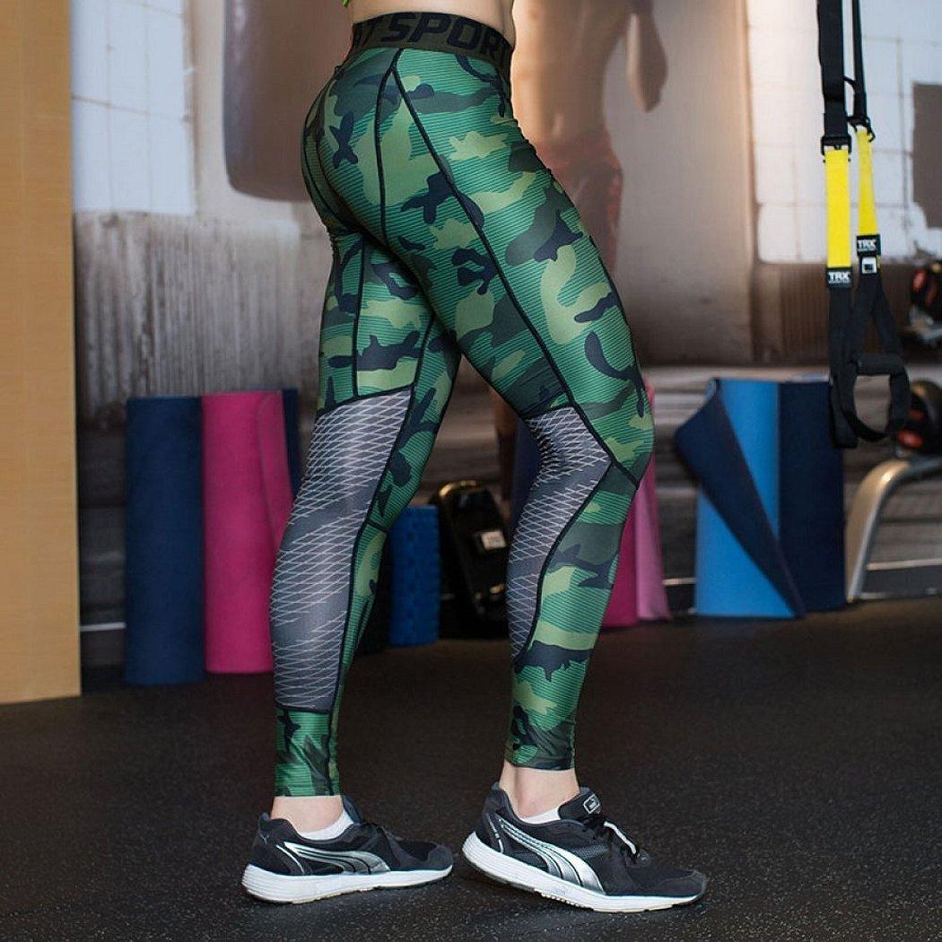 Компрессионные штаны vansydical camouflage