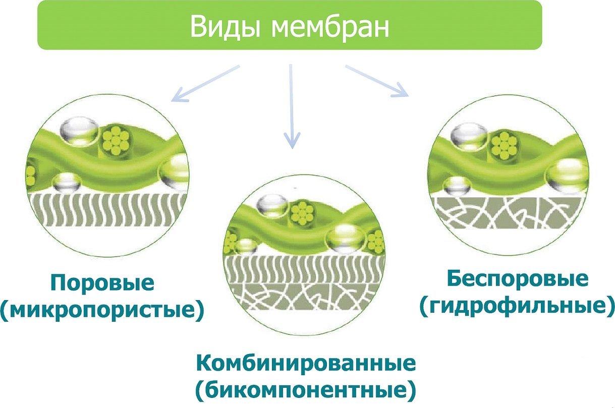Виды мембранных материалов поровые беспоровые