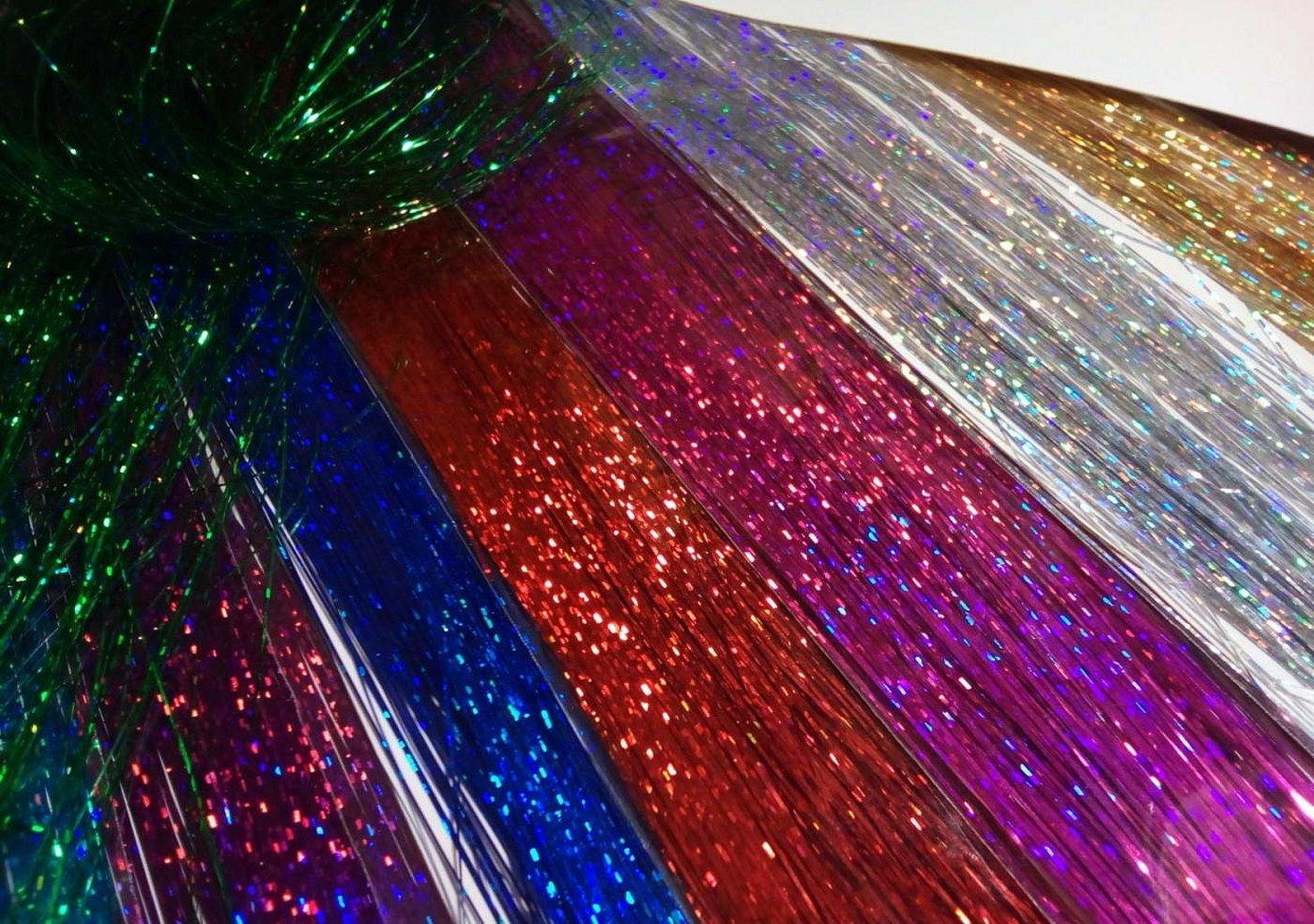 Дождик на новый год из блестящей ленточки на потолке