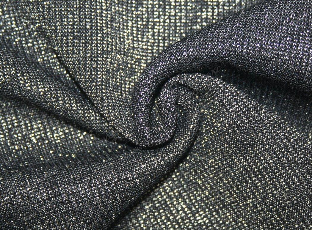 Ткань черный люрекс крупный