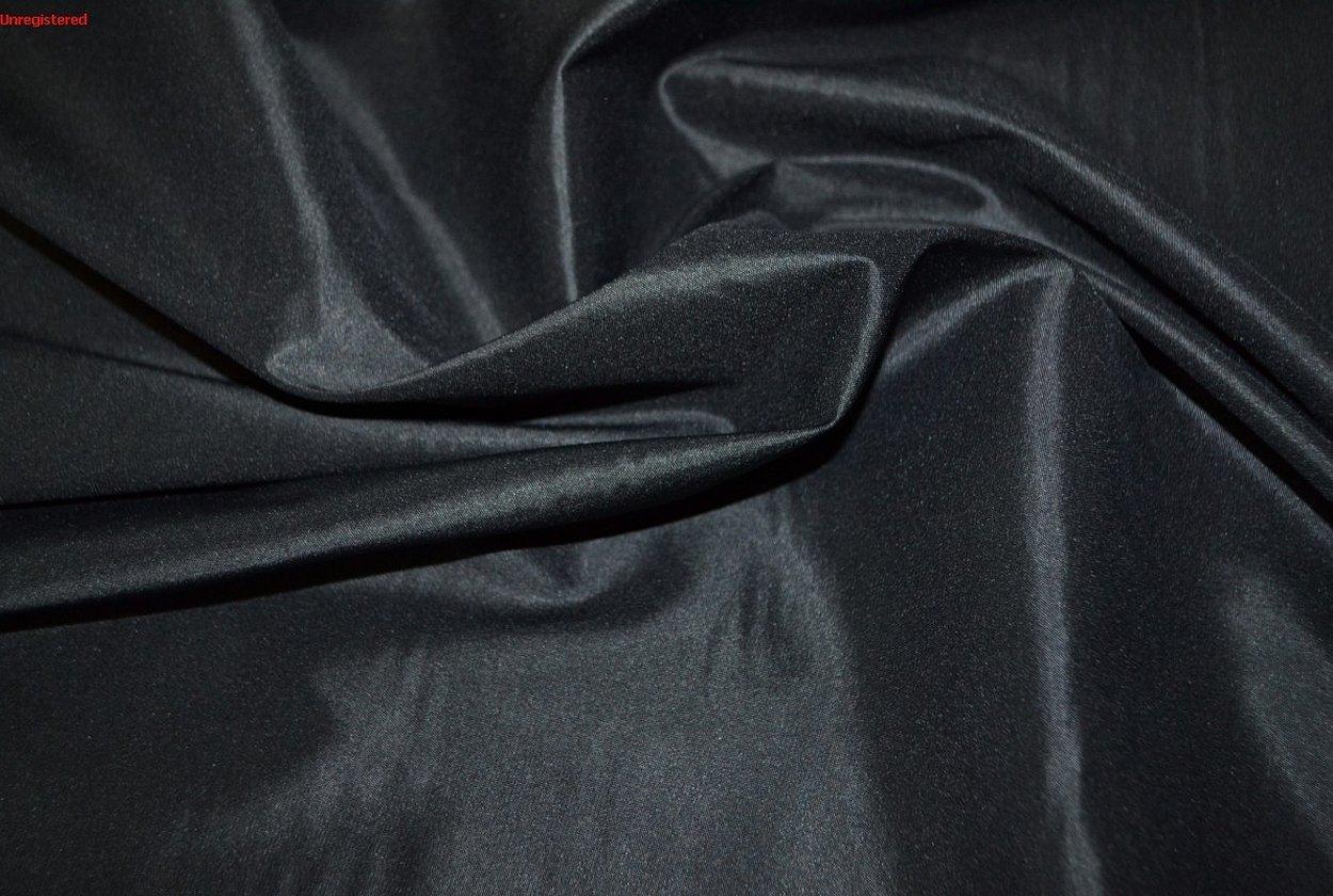 Чёрная вискозная подкладочная ткань