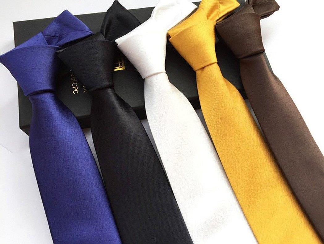 Однотонные деловые галстуки