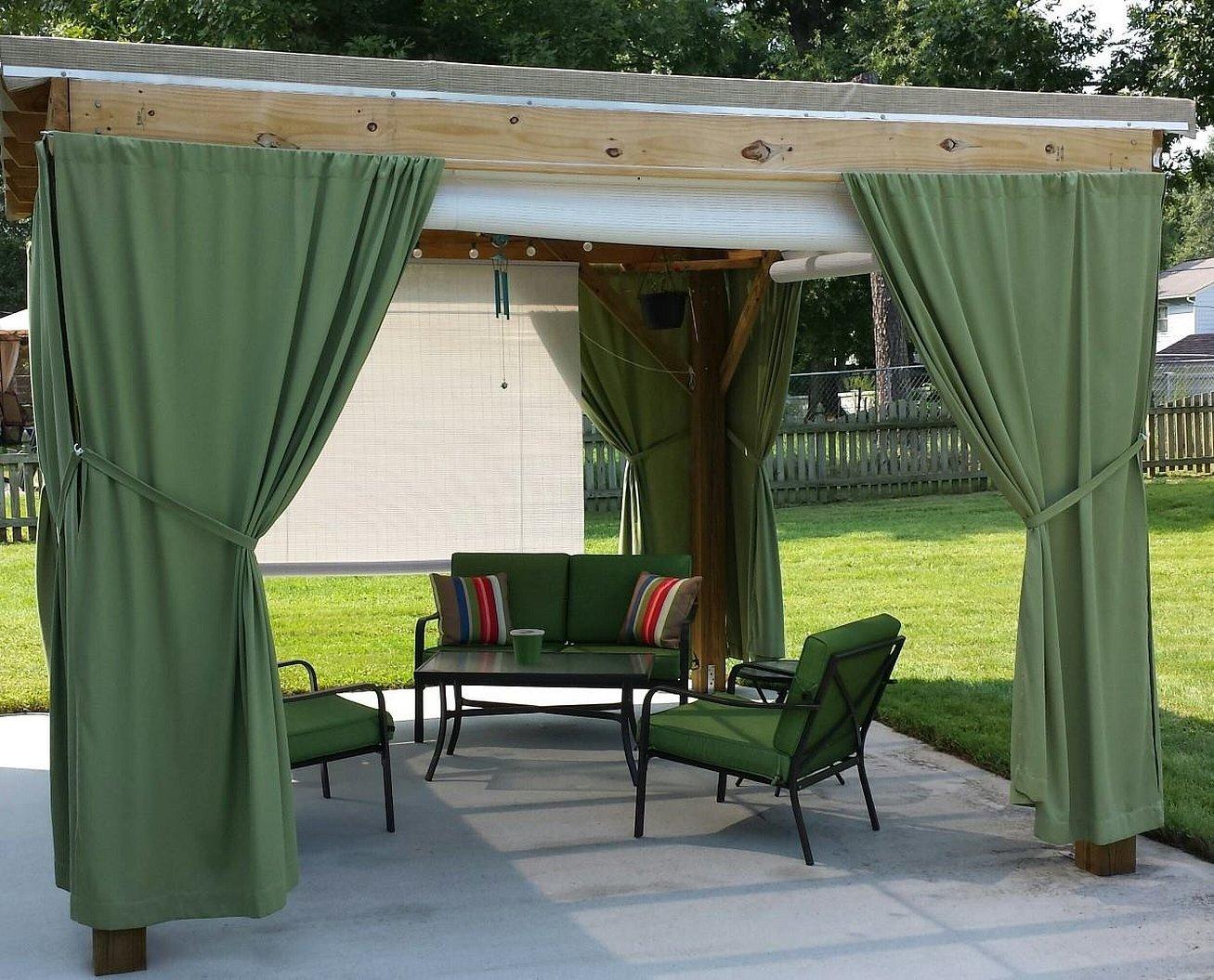 Брезентовые шторы для беседки и веранды