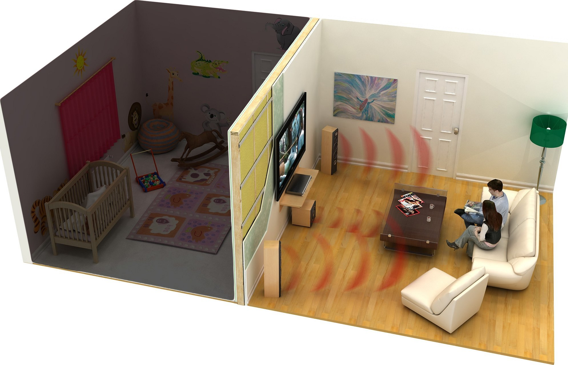 Low poly + модель комната