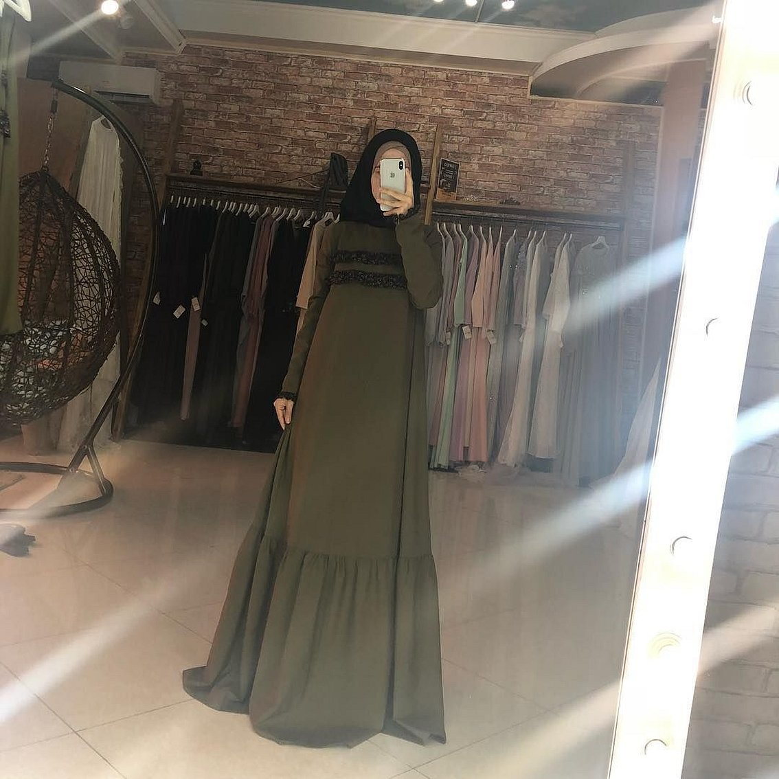Мусульманские абайный платье
