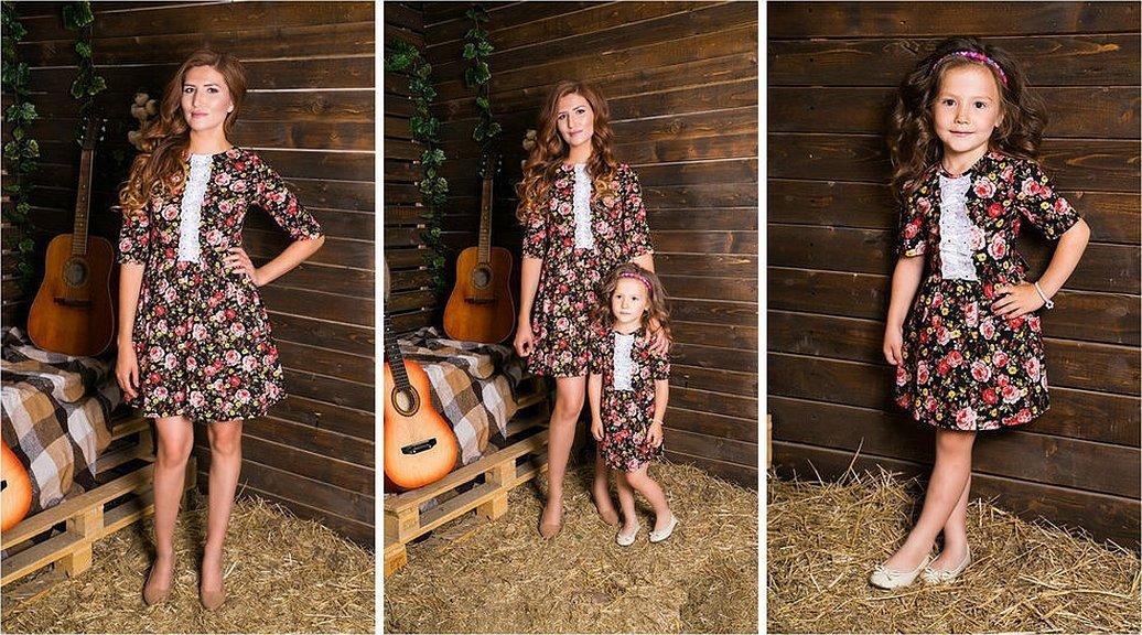 Платья для фотосессии мама и дочь