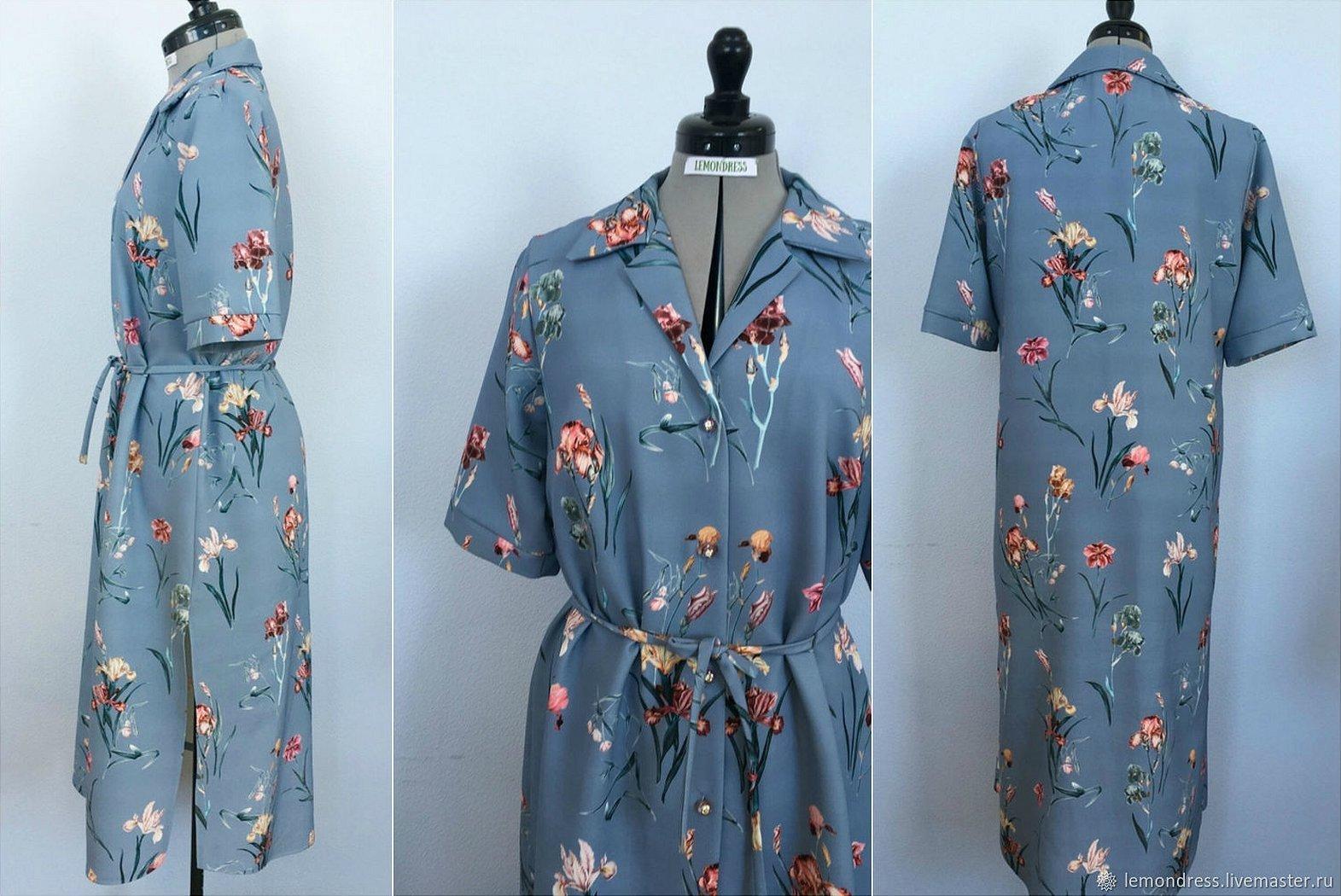 Платья рубашки шелк ниагара
