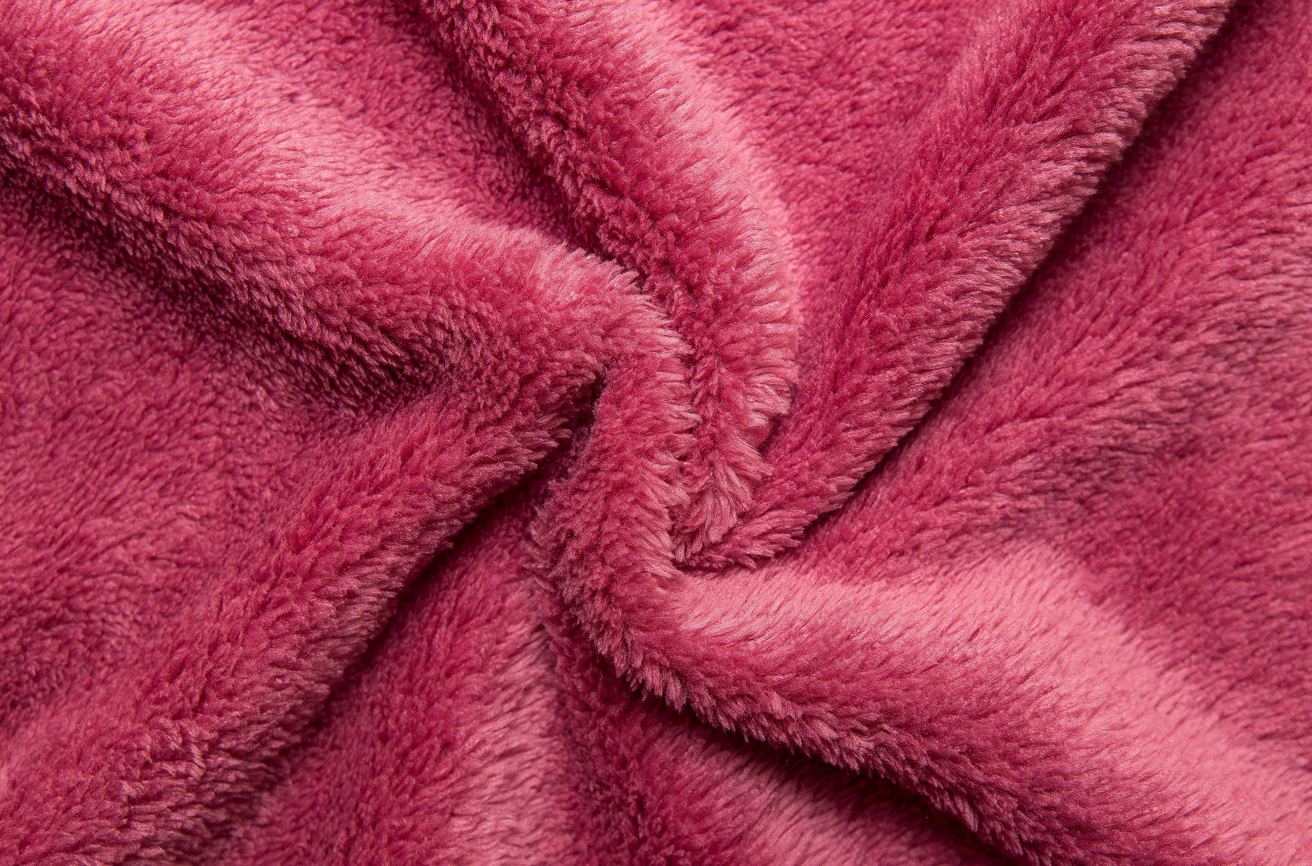 Красный велсофт ткань
