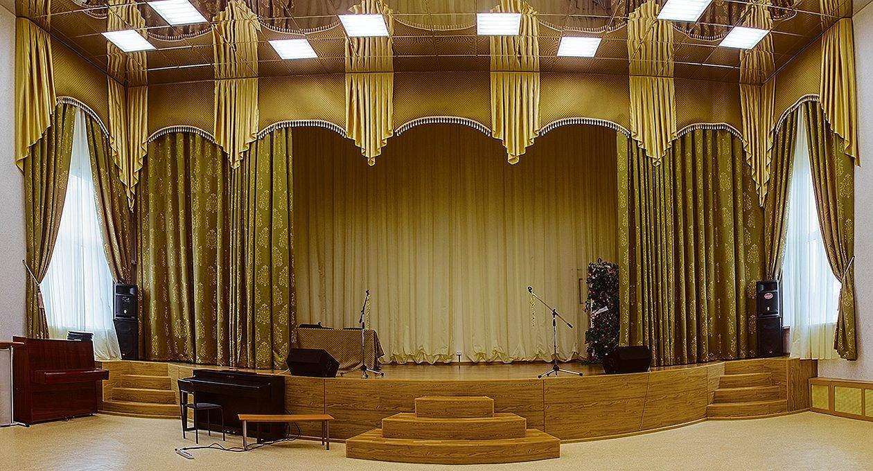 Занавес для сцены актового зала школы