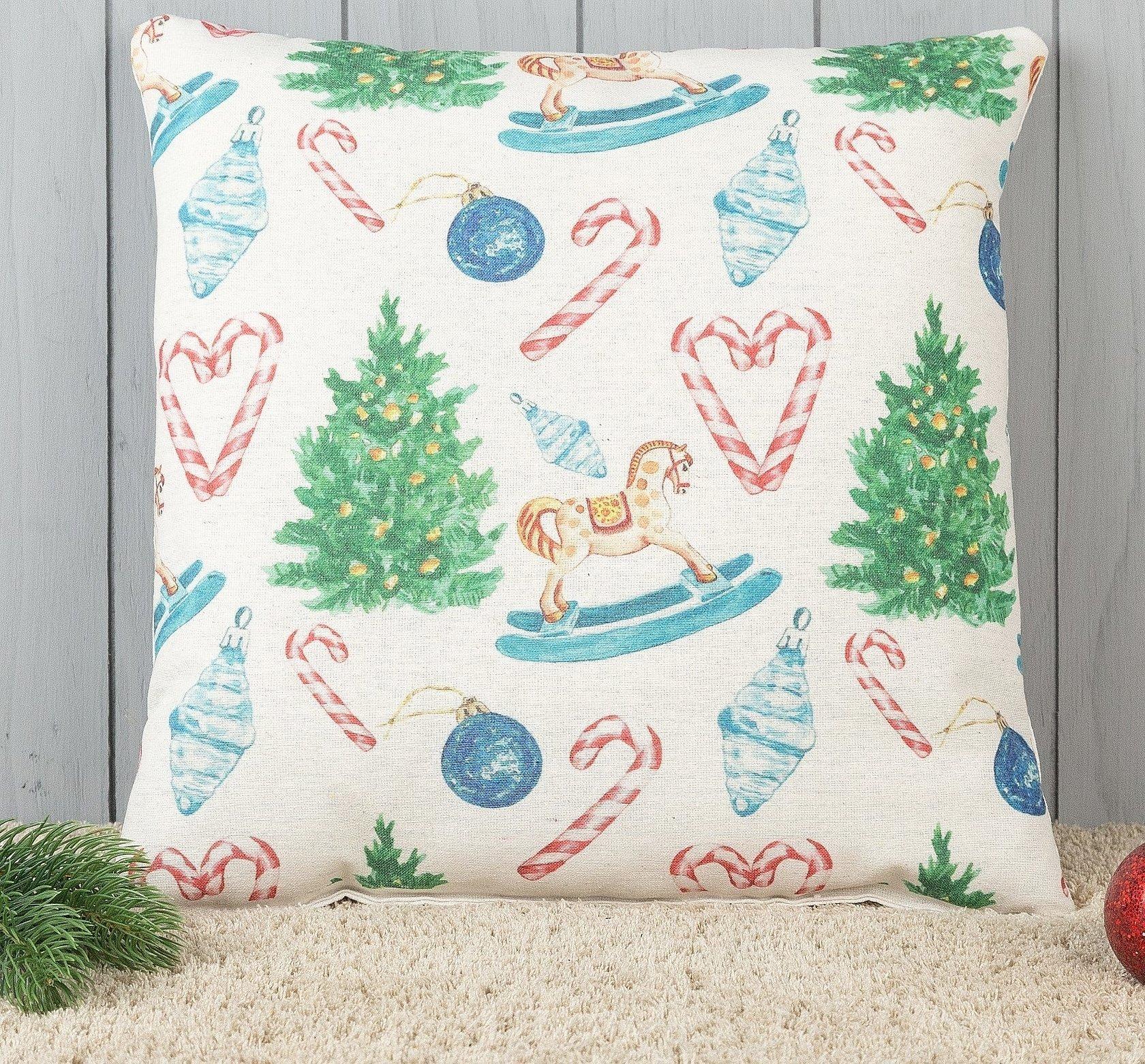Декоративная подушка елка