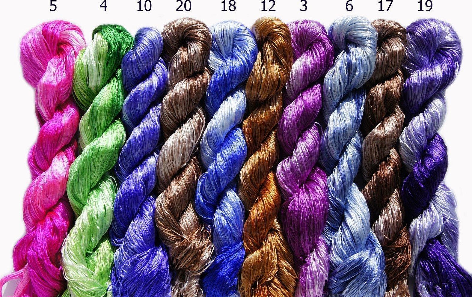 Меланжевые шелковые нитки