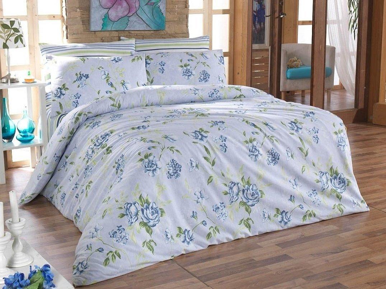 Комплект постельного белья поплин незабудки