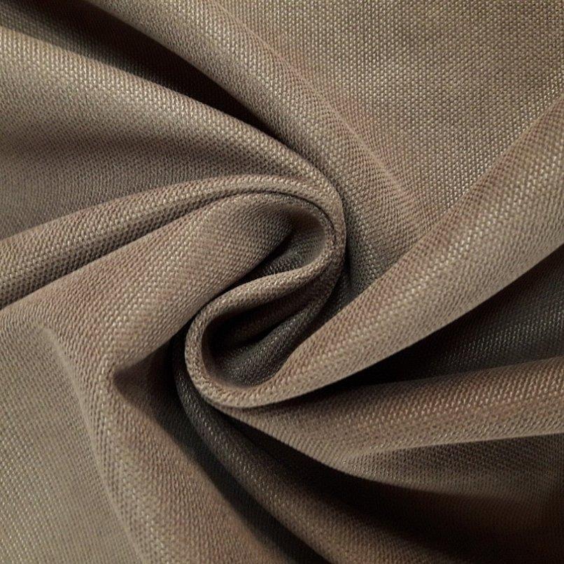 Портьера канвас коричневый