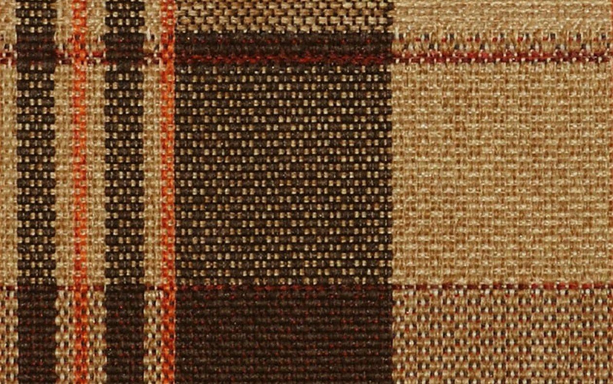 Шотландка рогожка коричневая