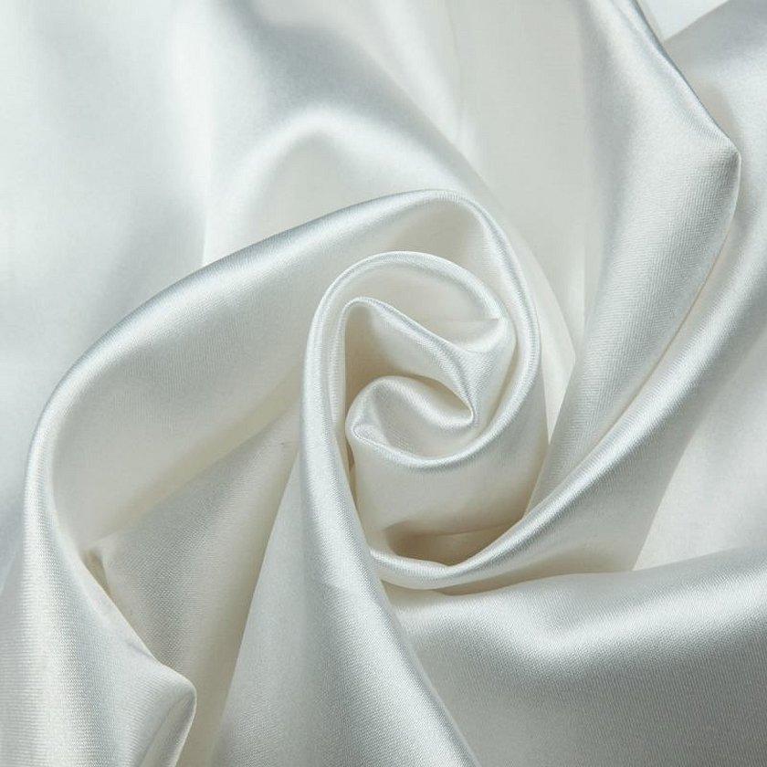 Креп сатин белый атласный ткань
