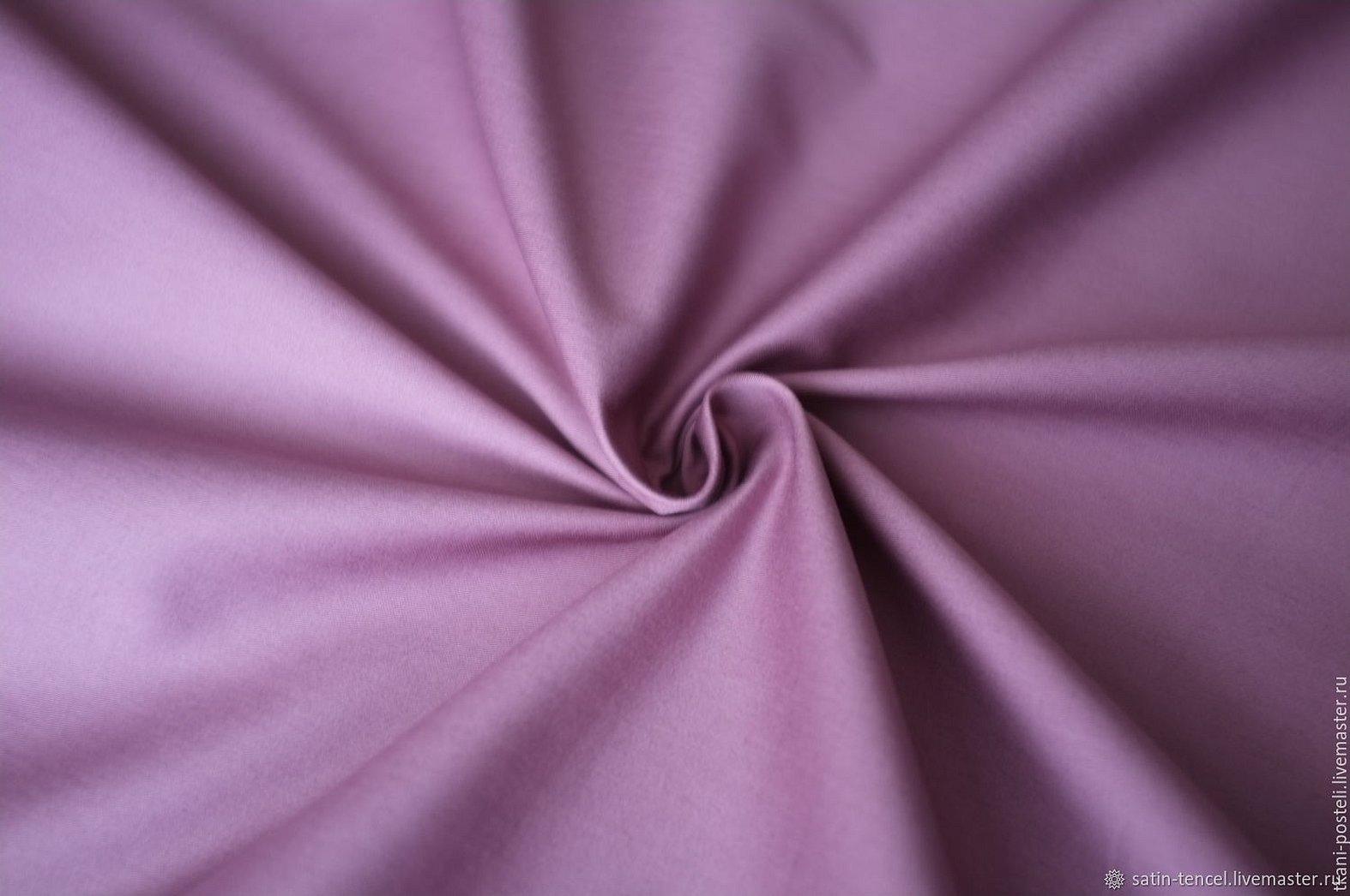 Лен с вискозой ткань лиловая