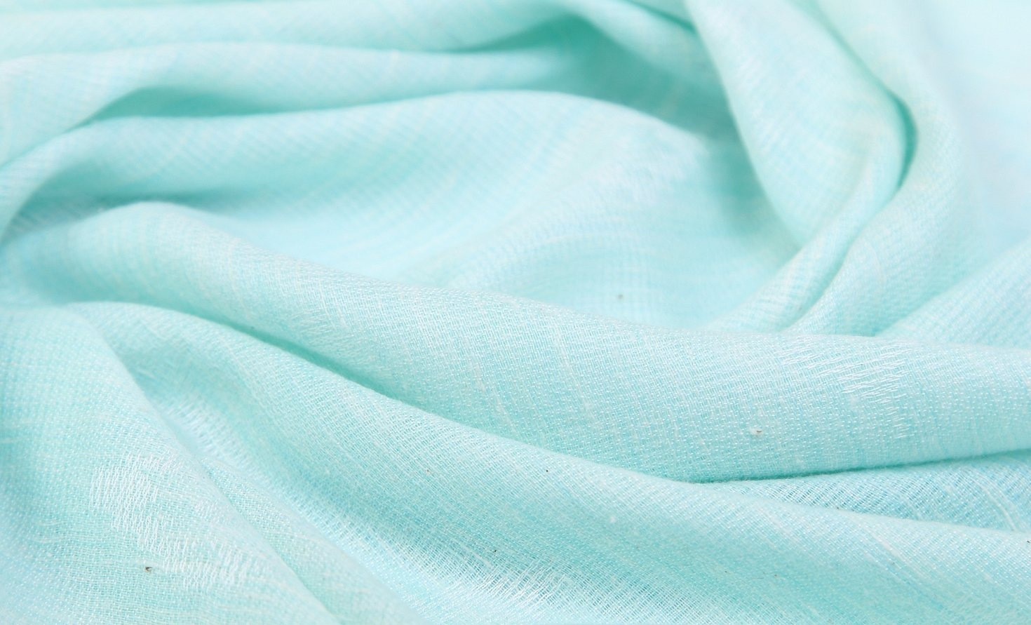 Ткань креп-шифон цвет бирюзовый