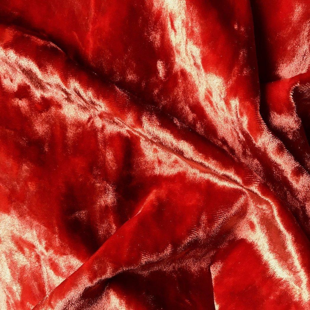 Ткань плюш винтаж красная