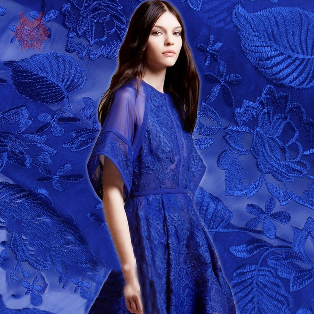 Корейские вечерние платья синие