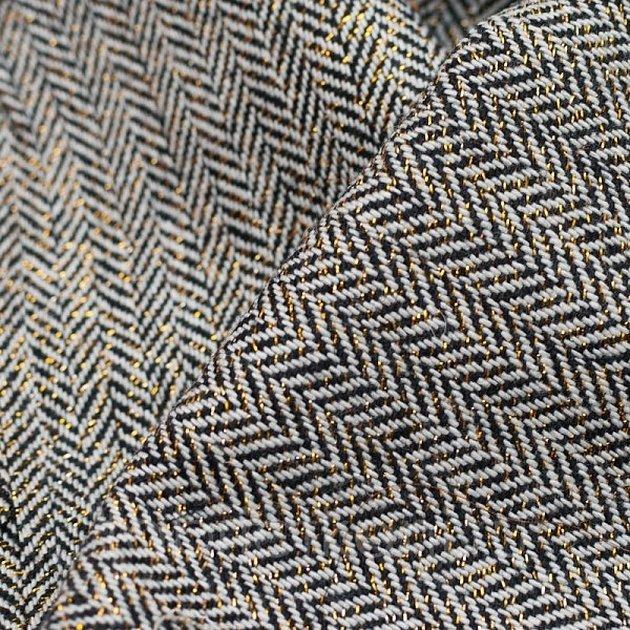 Ткань твид елочка текстура