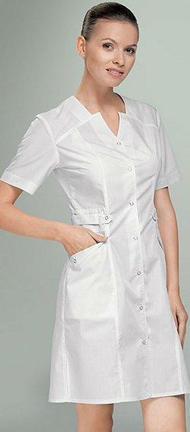 Медицинский халат на кнопках