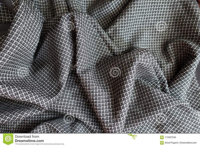 Ткань костюмная гусиная лапка коричневая
