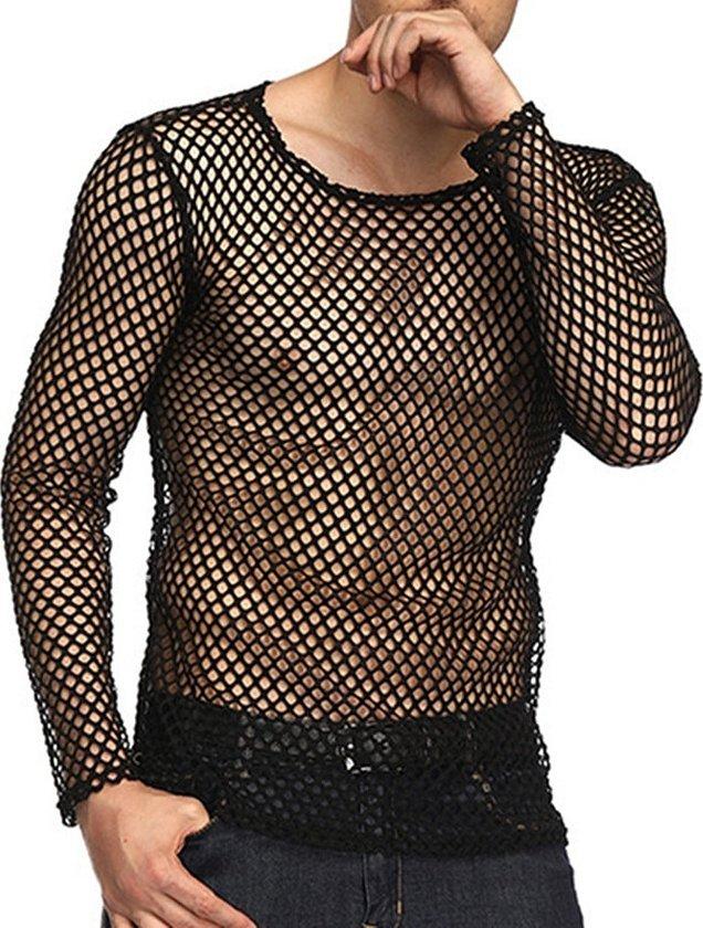 Рубашка мужская в сеточку для лета
