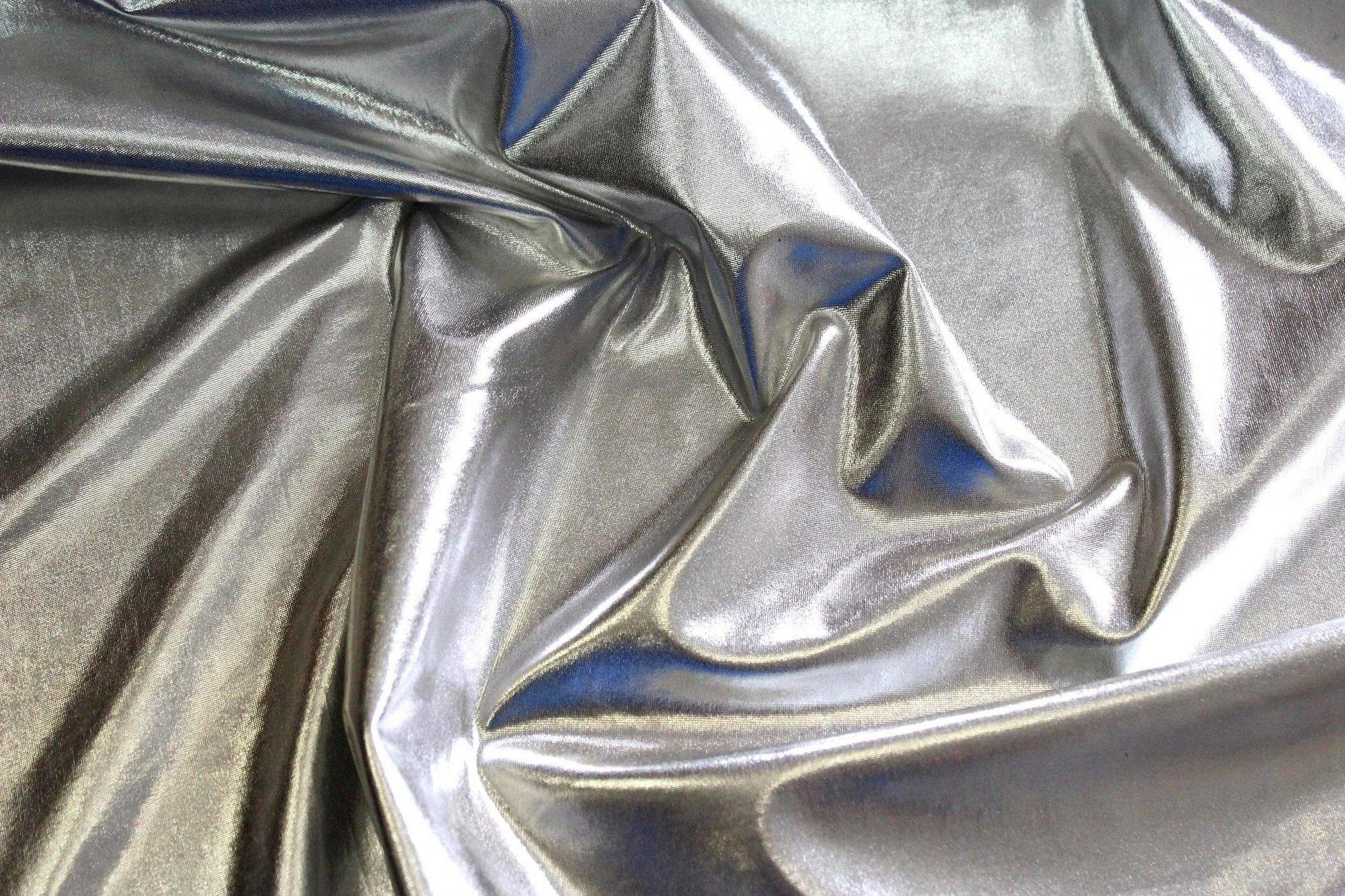 Ткань серебристая металлик