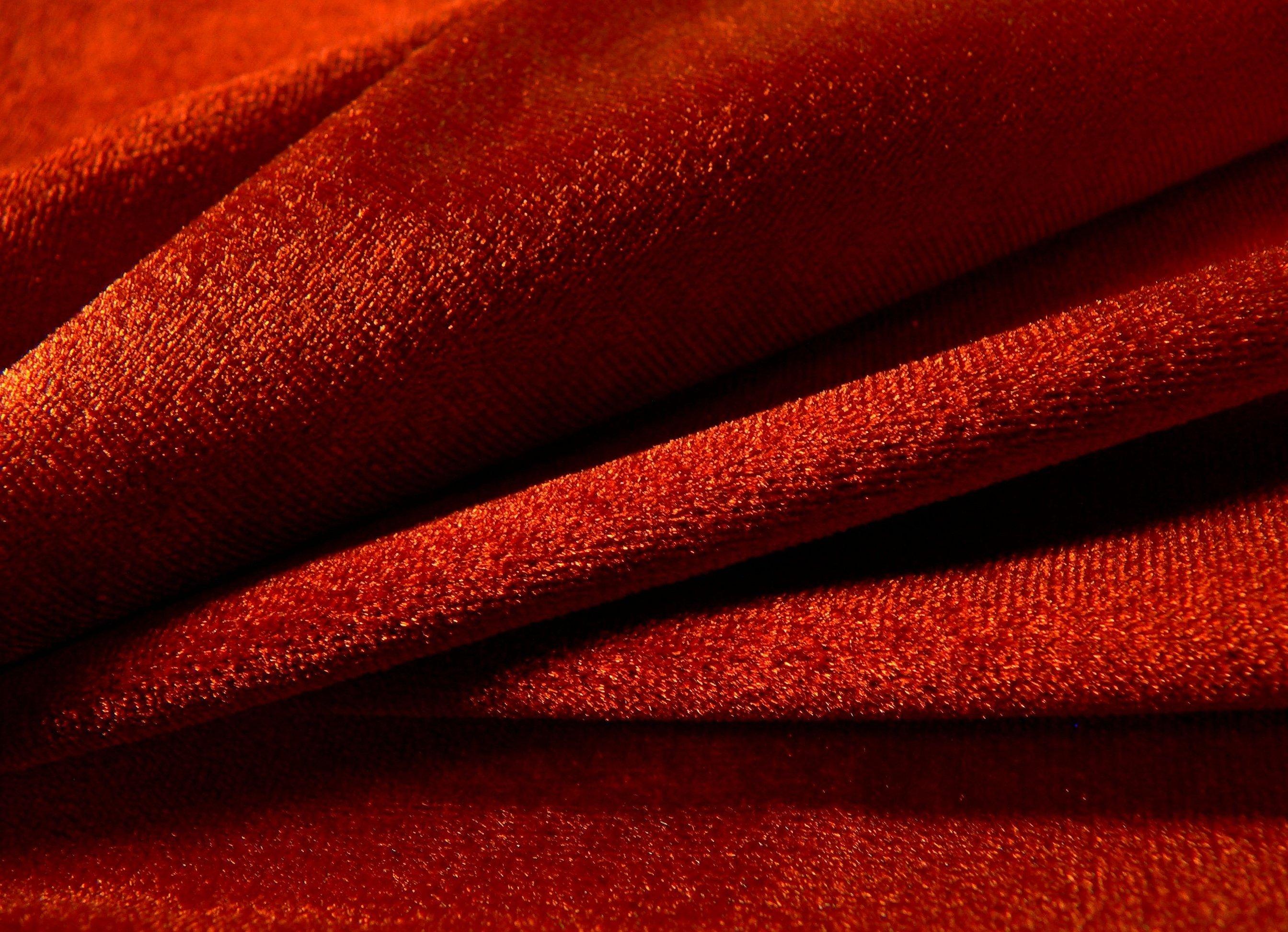 Ткань креповая красная плательная