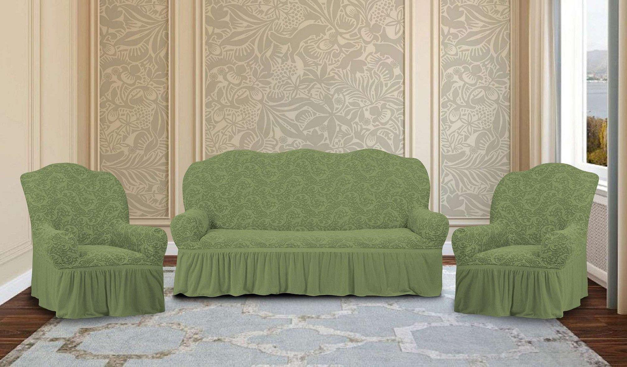 Чехлы на мягкую мебель из жаккарда