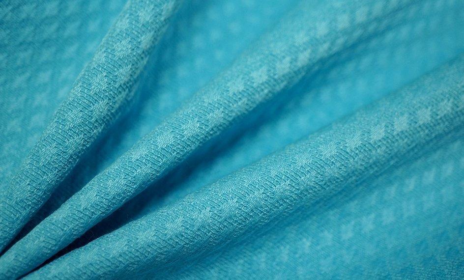 Ткань жаккард стрейч синий