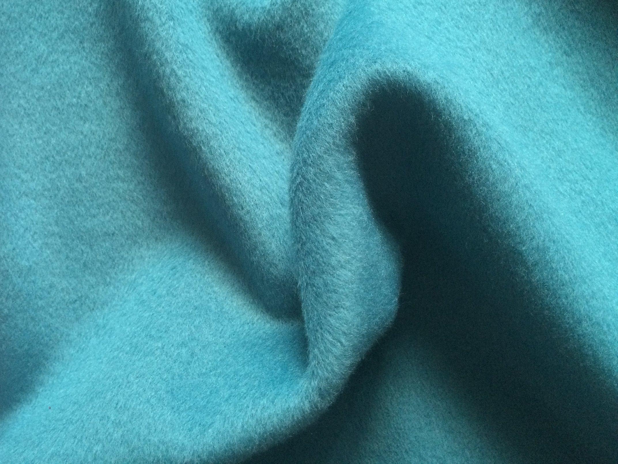 Ткань пальтовая темно бирюзового цвета