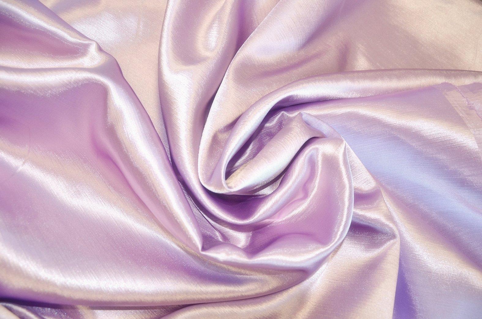 Атласная ткань бледно сиреневая