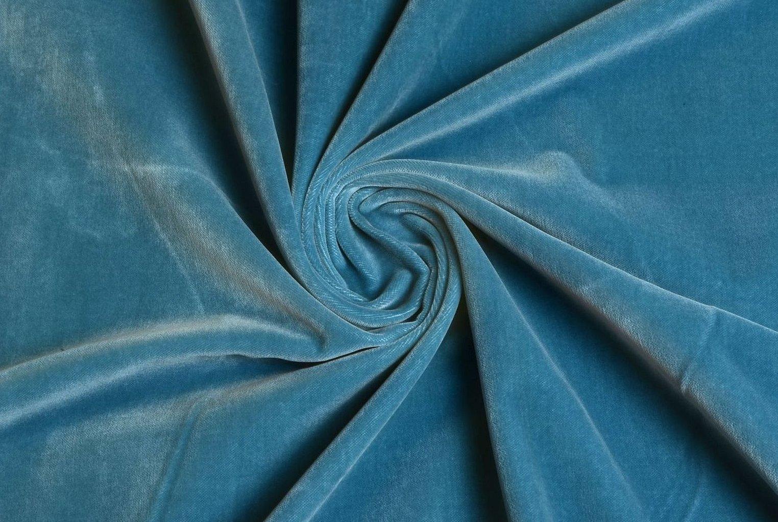Велюр бархат голубой