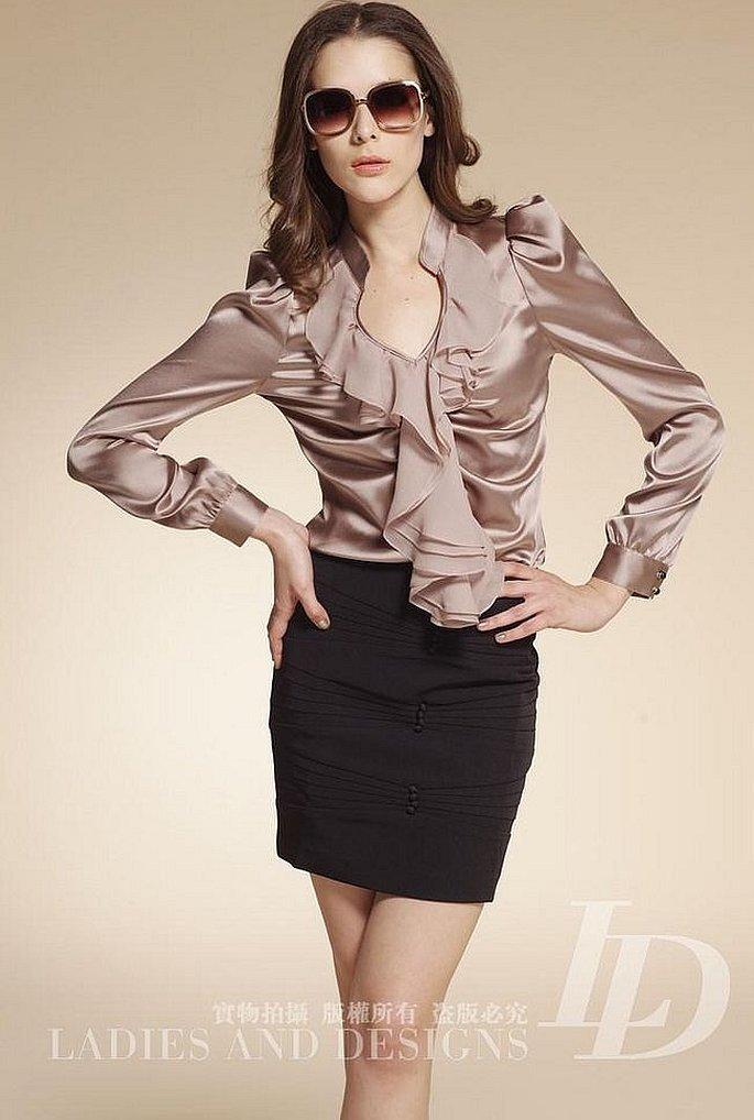 Блузки женские из шелка