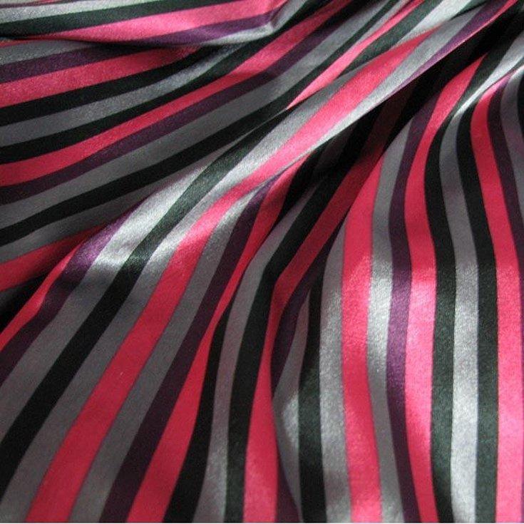 Ткань в полоску шелк плательная