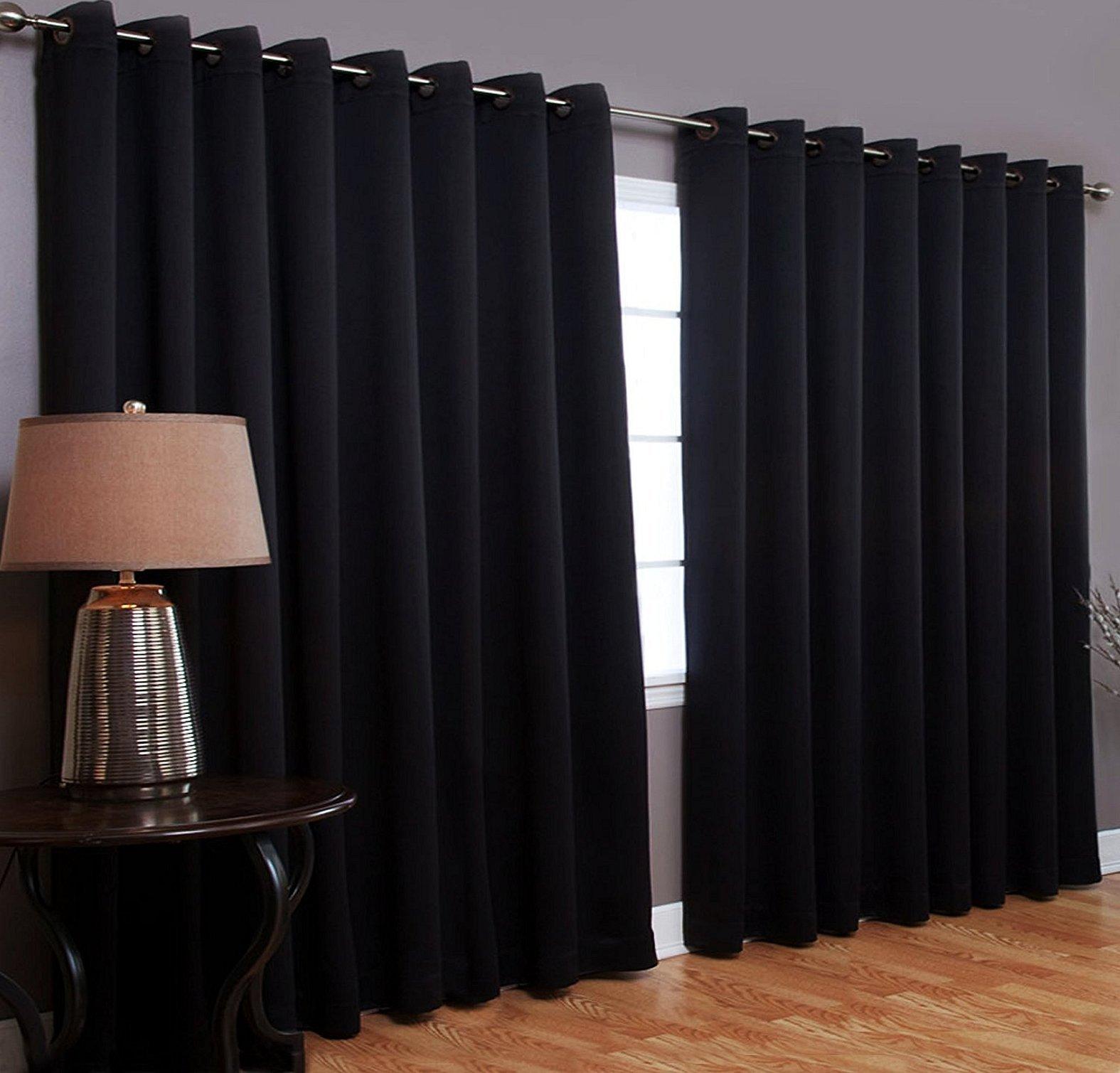 Черные светонепроницаемые шторы