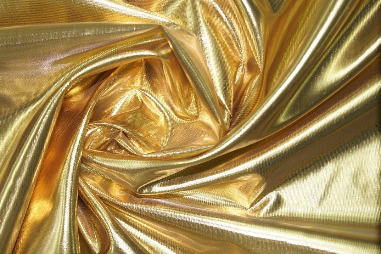 Шелковая парча золотистая