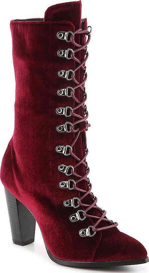 Ideal shoes бордовые ботильоны